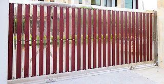 ประตูรั้วบ้านสแตนเลสแบบเลื่อน